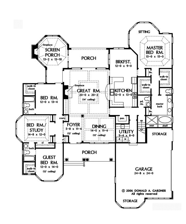 European Floor Plan - Main Floor Plan Plan #929-21