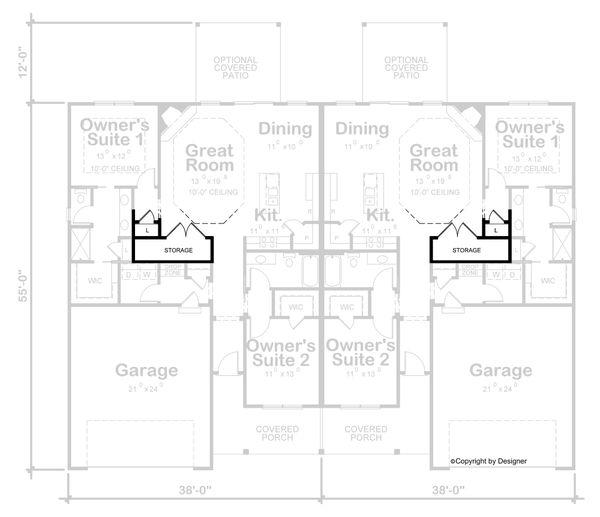 Architectural House Design - Craftsman Floor Plan - Other Floor Plan #20-2435