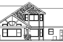 Craftsman Exterior - Rear Elevation Plan #124-675