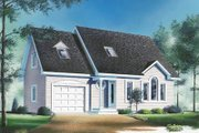 Traditional Style House Plan - 3 Beds 1.5 Baths 1417 Sq/Ft Plan #23-242 Exterior - Front Elevation
