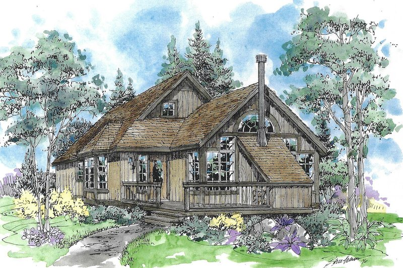 Country Exterior - Front Elevation Plan #970-5