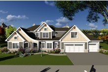 Dream House Plan - Craftsman Exterior - Front Elevation Plan #70-1286