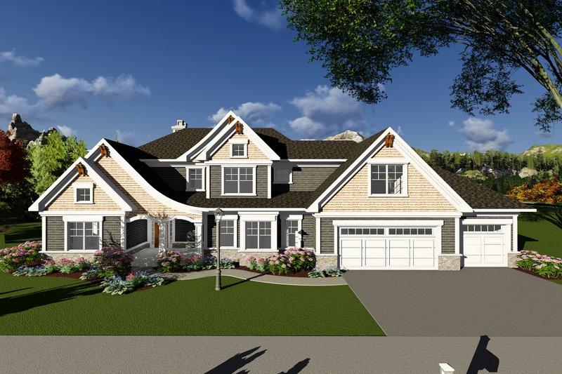 Dream House Plan - Craftsman Exterior - Front Elevation Plan #70-1286