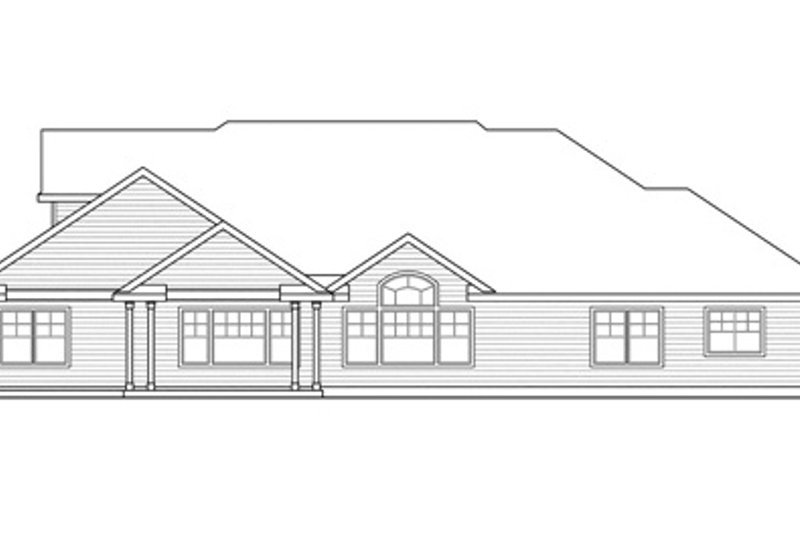 Traditional Exterior - Rear Elevation Plan #124-849 - Houseplans.com