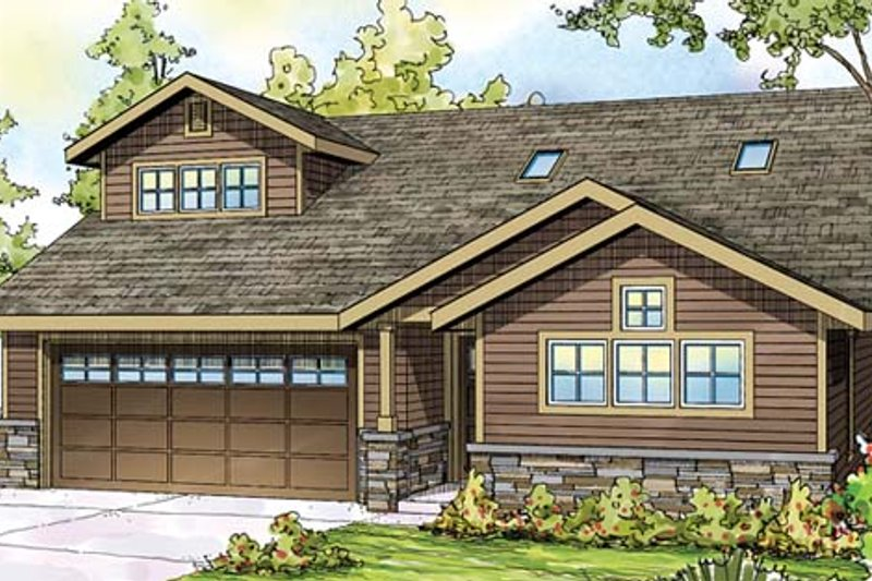 Traditional Exterior - Front Elevation Plan #124-860 - Houseplans.com