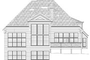 Traditional Style House Plan - 3 Beds 3.5 Baths 2870 Sq/Ft Plan #119-115 Exterior - Rear Elevation