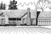 Ranch Style House Plan - 3 Beds 2 Baths 1312 Sq/Ft Plan #30-124 Exterior - Front Elevation