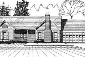 Ranch Exterior - Front Elevation Plan #30-124