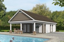 Country Exterior - Front Elevation Plan #932-312