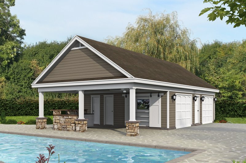Country Style House Plan - 0 Beds 1 Baths 1065 Sq/Ft Plan #932-312