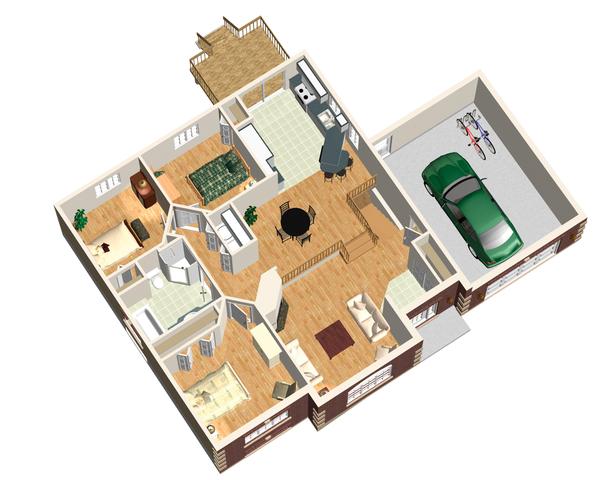 European Floor Plan - Main Floor Plan Plan #25-4648