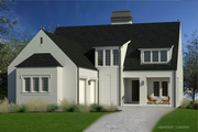 Modern Style House Plan - 3 Beds 3.5 Baths 2990 Sq/Ft Plan #926-6 Exterior - Front Elevation
