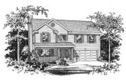 Country Style House Plan - 4 Beds 2.5 Baths 2547 Sq/Ft Plan #22-208 Exterior - Other Elevation