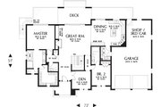 Prairie Style House Plan - 3 Beds 3.5 Baths 2694 Sq/Ft Plan #48-657 Floor Plan - Main Floor