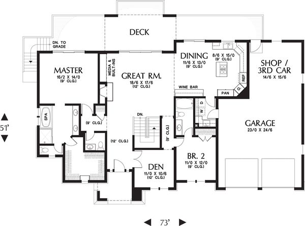 Prairie Floor Plan - Main Floor Plan Plan #48-657