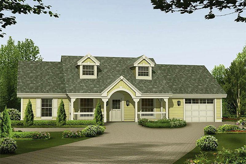 Ranch Exterior - Front Elevation Plan #57-331 - Houseplans.com