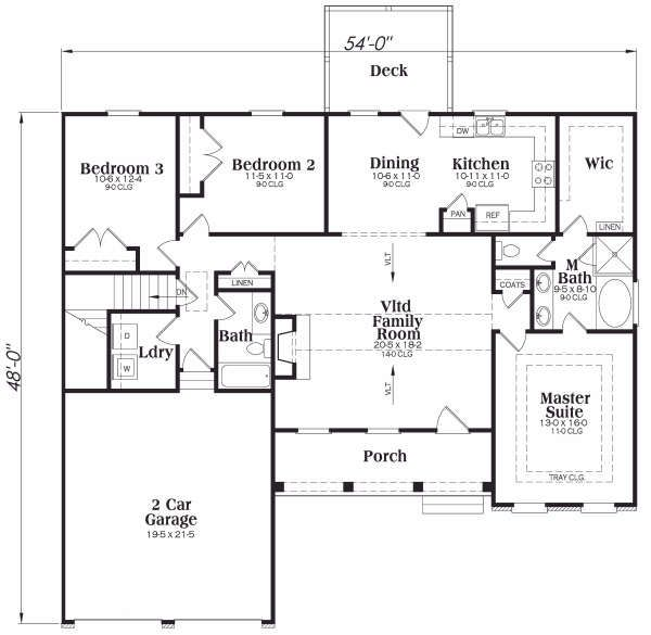 Traditional Floor Plan - Main Floor Plan Plan #419-173
