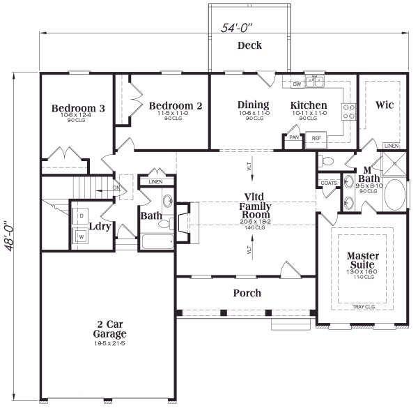 Traditional Floor Plan - Main Floor Plan Plan #419-173