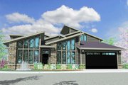 Modern Style House Plan - 3 Beds 3.5 Baths 2662 Sq/Ft Plan #509-11 Exterior - Front Elevation