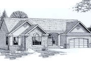 Traditional Style House Plan - 3 Beds 2 Baths 1254 Sq/Ft Plan #53-108