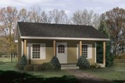 Cottage Style House Plan - 1 Beds 1 Baths 416 Sq/Ft Plan #22-121