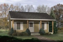 Cottage Exterior - Front Elevation Plan #22-121