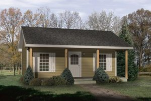 Cottage Exterior - Front Elevation Plan #22-121
