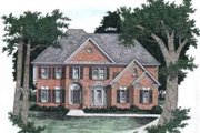 Southern Style House Plan - 5 Beds 4 Baths 3531 Sq/Ft Plan #129-162 Exterior - Front Elevation