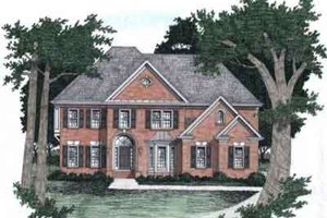 Southern Exterior - Front Elevation Plan #129-162