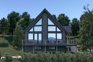 Cottage Exterior - Front Elevation Plan #1070-57