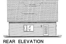 House Plan Design - Bungalow Exterior - Rear Elevation Plan #18-4502
