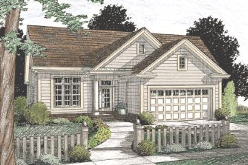 Architectural House Design - Traditional Exterior - Front Elevation Plan #20-347