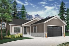 Country Exterior - Front Elevation Plan #23-2695