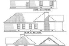 House Plan Design - Southern Exterior - Rear Elevation Plan #17-180