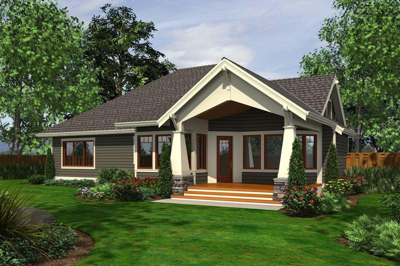 Craftsman Exterior - Rear Elevation Plan #132-202 - Houseplans.com