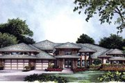 Modern Style House Plan - 4 Beds 3.5 Baths 3200 Sq/Ft Plan #417-369 Exterior - Front Elevation