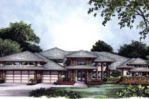 Modern Exterior - Front Elevation Plan #417-369