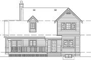 Farmhouse Style House Plan - 3 Beds 2 Baths 1583 Sq/Ft Plan #47-384 Exterior - Rear Elevation