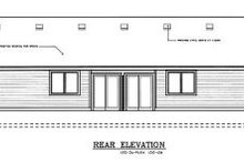House Plan Design - Traditional Exterior - Rear Elevation Plan #100-108