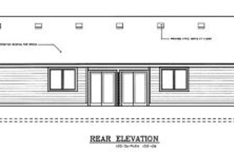 Traditional Exterior - Rear Elevation Plan #100-108 - Houseplans.com