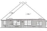 European Style House Plan - 3 Beds 2.5 Baths 2013 Sq/Ft Plan #310-978 Exterior - Rear Elevation