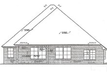 Home Plan - European Exterior - Rear Elevation Plan #310-978