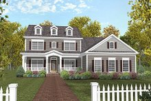 House Plan Design - Country Exterior - Front Elevation Plan #56-565