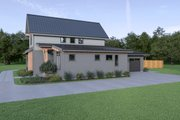 Contemporary Style House Plan - 3 Beds 2.5 Baths 1954 Sq/Ft Plan #1070-80 Exterior - Other Elevation