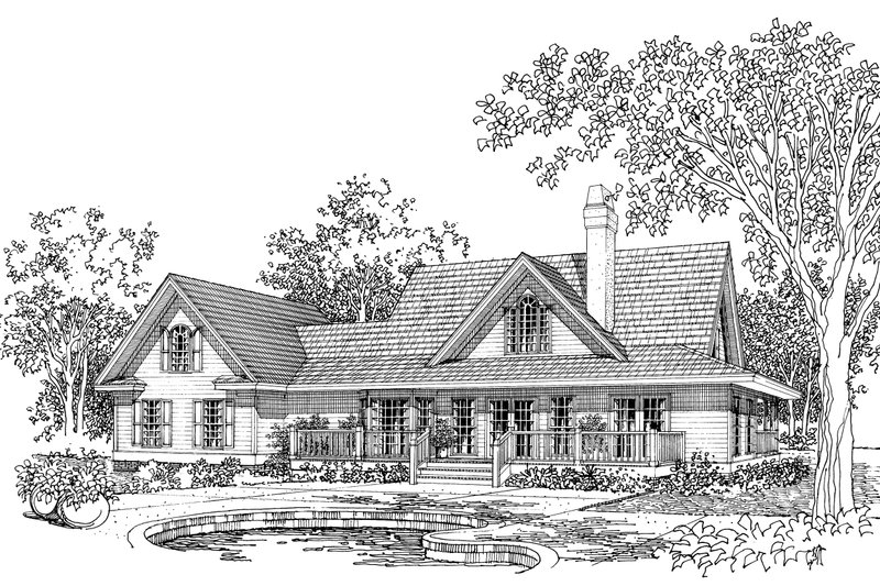 Country Exterior - Front Elevation Plan #929-15 - Houseplans.com