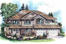House Plan Design - European Exterior - Front Elevation Plan #18-265