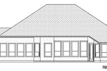 Mediterranean Exterior - Rear Elevation Plan #84-598