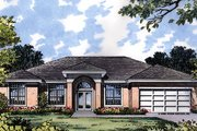 Mediterranean Style House Plan - 3 Beds 2 Baths 1783 Sq/Ft Plan #417-144 Exterior - Front Elevation