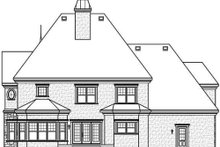 Home Plan - European Exterior - Rear Elevation Plan #23-412
