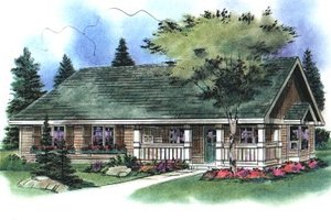 Architectural House Design - Country Exterior - Front Elevation Plan #18-1041
